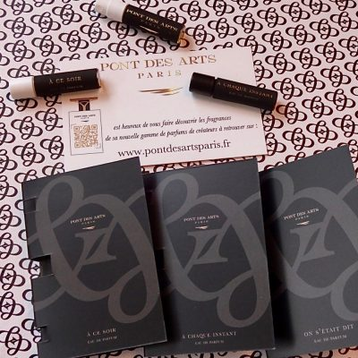 échantillons Pont des Arts Paris Parfums d'auteurs