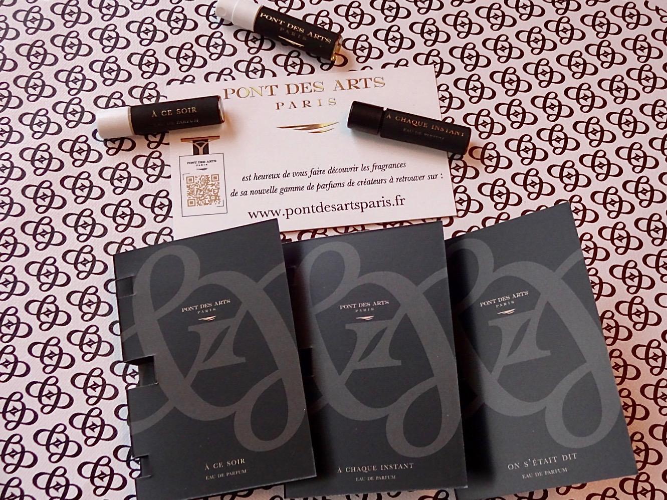 échantillons de parfums Pont des Arts Paris